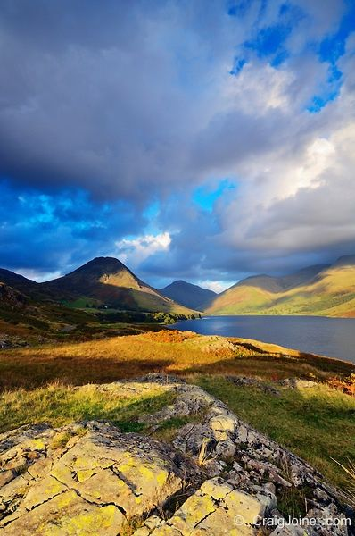 England Travel Inspiration - Wastwater in autumn in The Lake District National Park Cumbria England