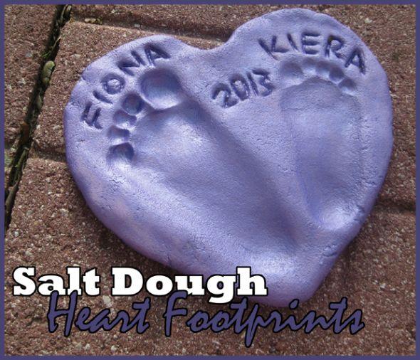 come conservare l'impronta dei piedini per sempre nella pasta di sale #pastadisale #sale #faidate