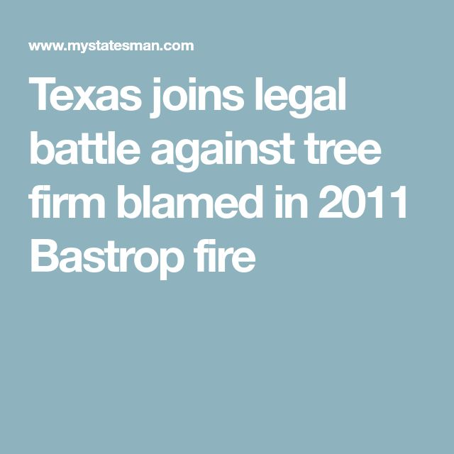 Texas joins legal battle against tree firm blamed in 2011 Bastrop fire