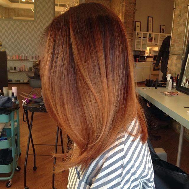 cool Рыжий цвет волос: все оттенки и мелирование (50 фото)