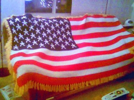 free+crochet+afghan+patterns+to+print+American+flag | ... crochet on artfire afghan american crochet flag pattern sewing