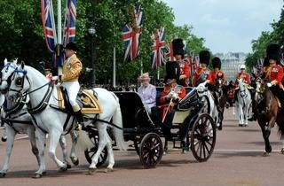Trooping the Colour: The Queen's Birthday Parade  http://www.timeout.com/london/things-to-do/trooping-the-colour-the-queens-birthday-parade-3