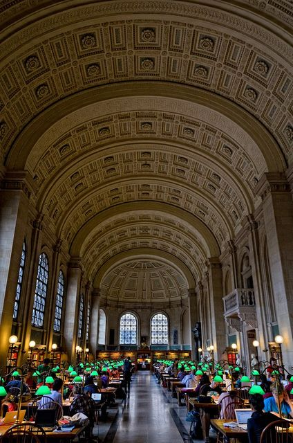 Check out the beautiful architecture of the Boston Public Library - they run free tours of it, too!
