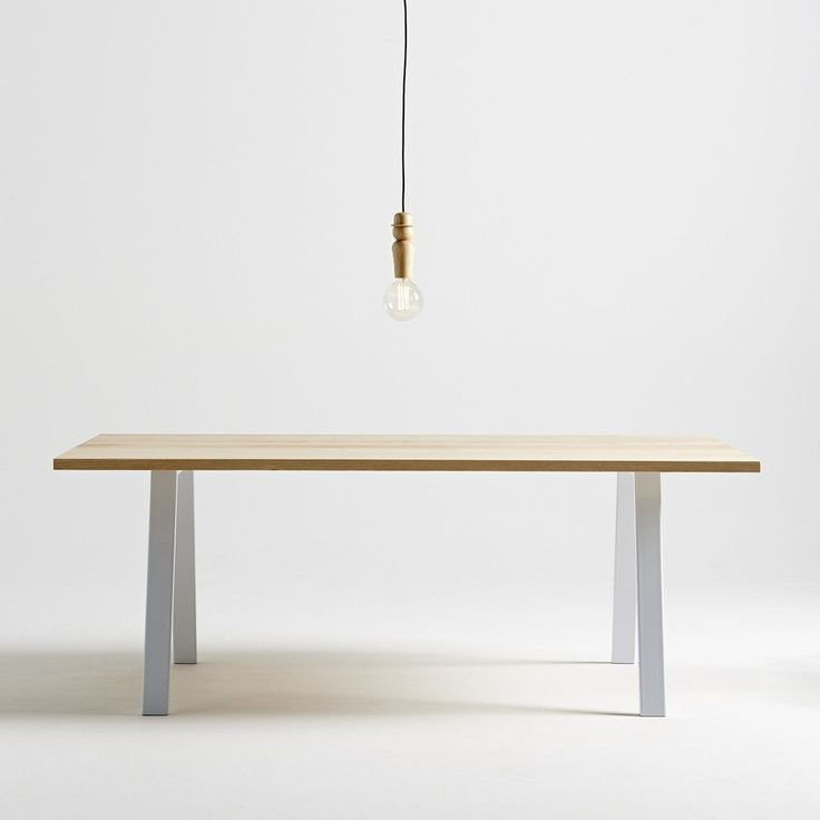 Custom Splay Table in American Ash hardwood by Paper Plane. Made to order. Available in New Zealand.