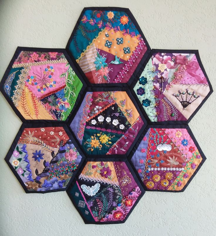 Best images about hexagon crazy quilt on pinterest