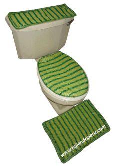 juego para baño tejido a crochet