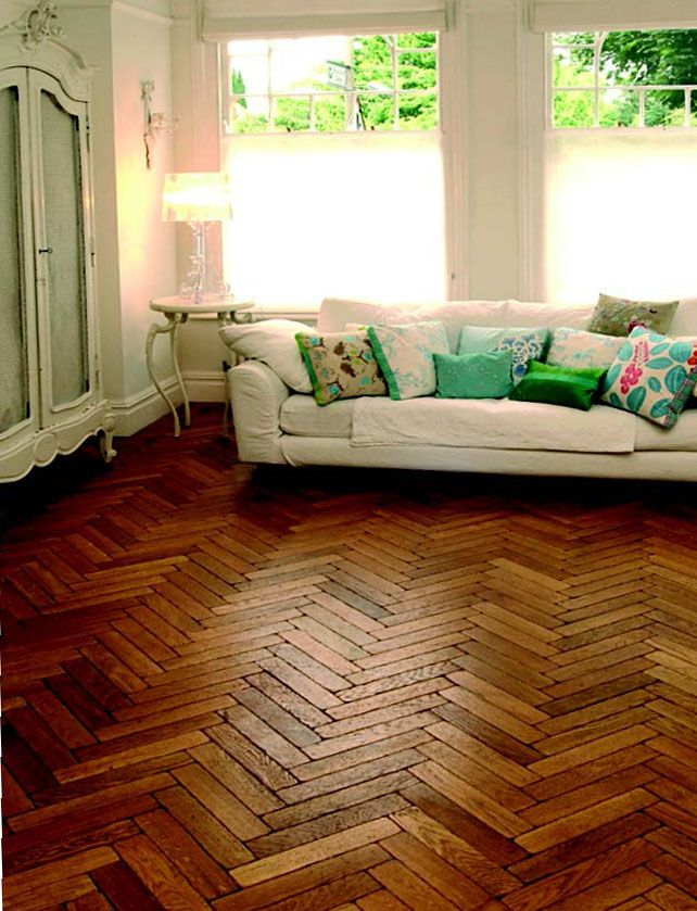 Oak aged parquet from The Natural Wood Floor Company -