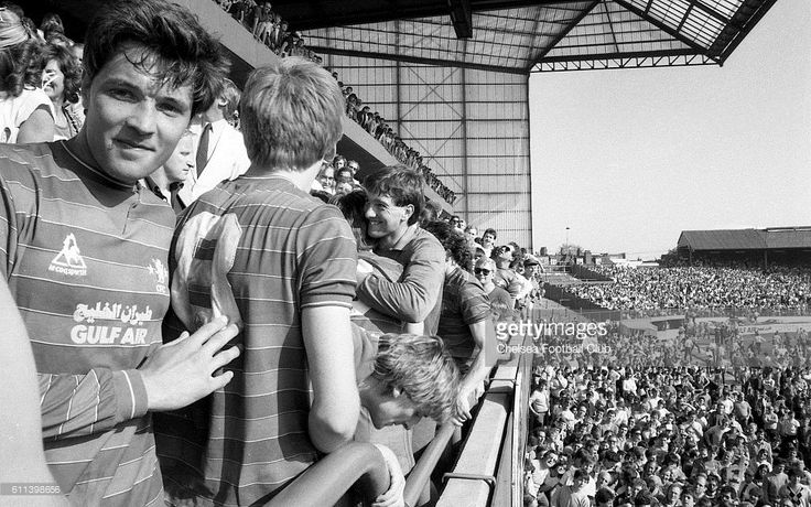 APRIL 1984 . Chelsea 5 v Leeds United 0. Chelsea's Joe McLaughlin post-match .