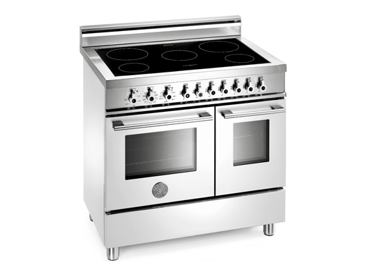 Stainless Freestanding Range Induction Top | 36 Induction Top, Electric  Double Oven | Bertazzoni