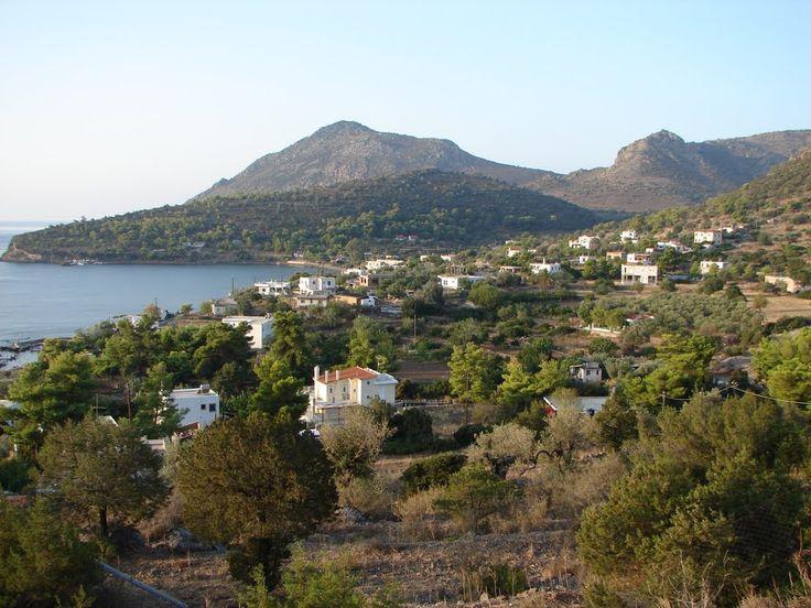 We ❤ Greece | Panoramic view of Portes village, #Aegina island #Greece #travel #explore #destination
