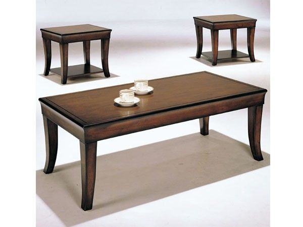 acme furniture branford pack cherry wood coffeeend table set