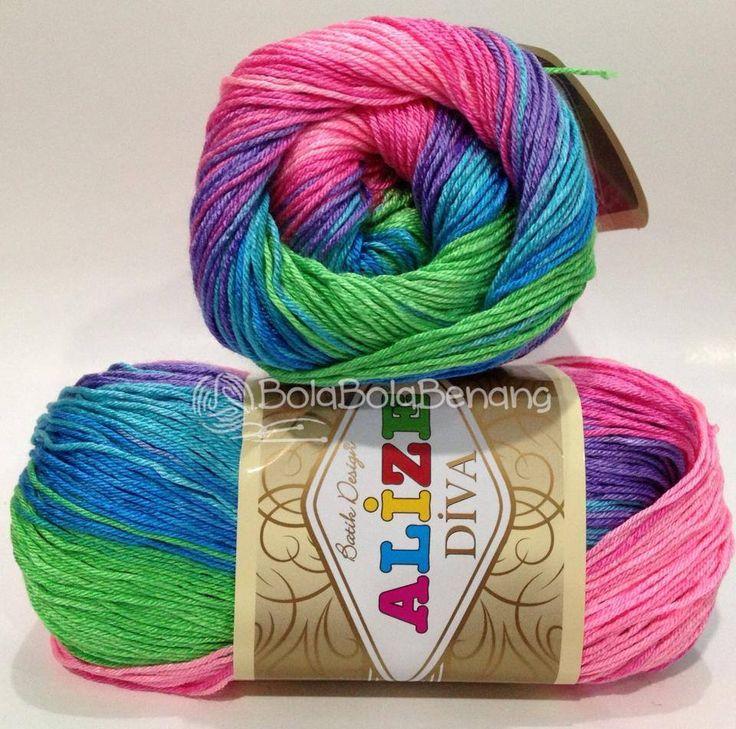 ALIZE DIVA BATIK 4537, Price: 90.000,-/gulung, Bahan: 100% Microfiber Akrilik, Berat/Panjang: 100gr/350m, Knitting Needles: 2,5mm – 3,5mm, Crochet Hook: 1mm - 3mm