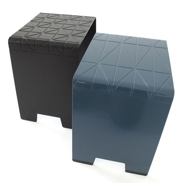 Imprint Stool Blue and Black