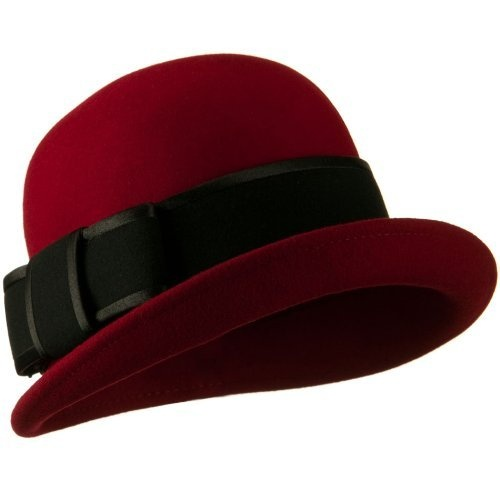 Cloche Wool Felt Satin Bow Trim Hat - Dark Red OSFM W18S47B Jeanne Simmons, HATS to buy just click on amazon here   http://www.amazon.com/gp/product/B009OLXR60?ie=UTF8=213733=393177=B009OLXR60=shr=abacusonlines-20&=apparel=1361317157=1-60=cloche+hatA REAL DEAL http://a-real-deal.com