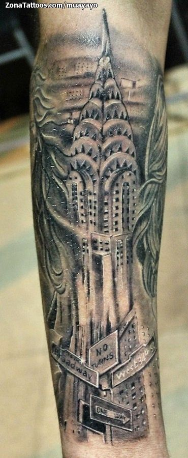 Tatuaje de edificios tattoo tatuajes and tatting for Empire ink tattoo