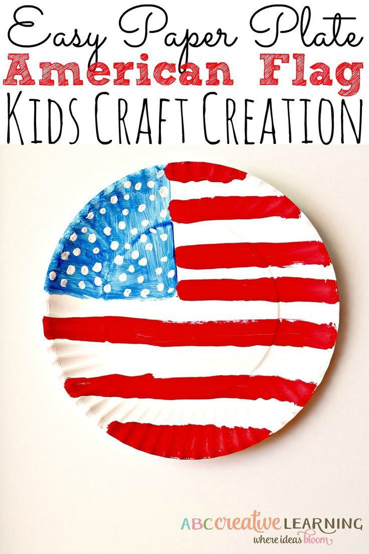 An easy and fun way to celebrate America, with this Paper Plate American Flag Craft that the kids will enjoy creating. Also, perfect for educational crafts! - abccreativelearning.com