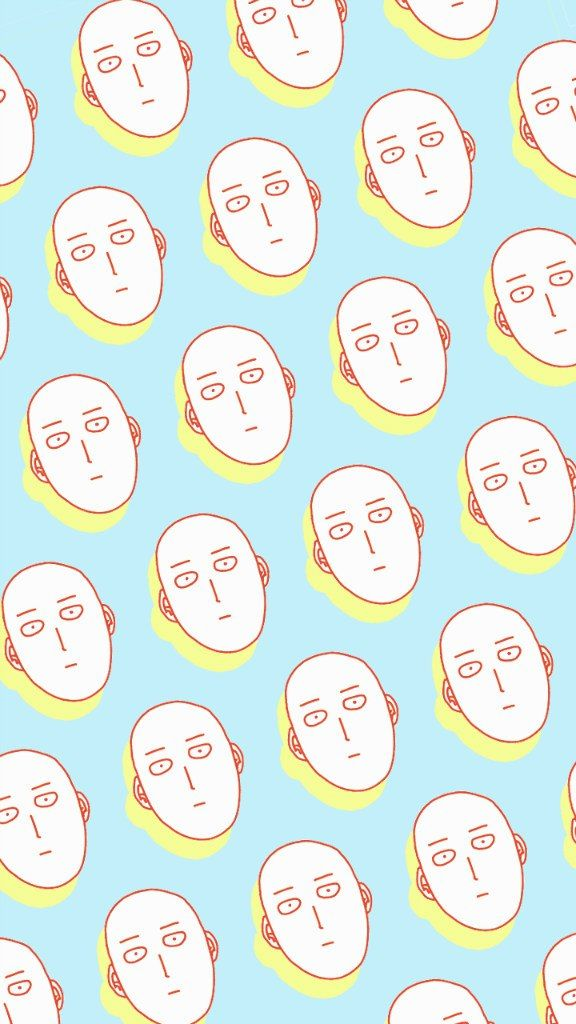 One Punch Man Saitama pattern :3 <--- this is gonna be my wallpaper