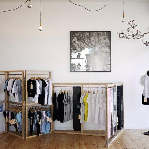 holzmöbel kleiderständer ankleidezimmer regalsysteme