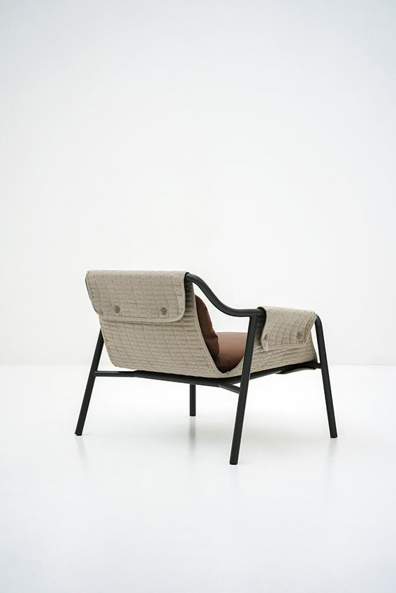 Patrick Norguet; Enameled Steel 'Jacket' Armchair for Tacchini, 2012.