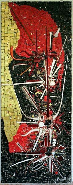 Omaggio a Odoacre. Georges Mathieu. Arte Informale.