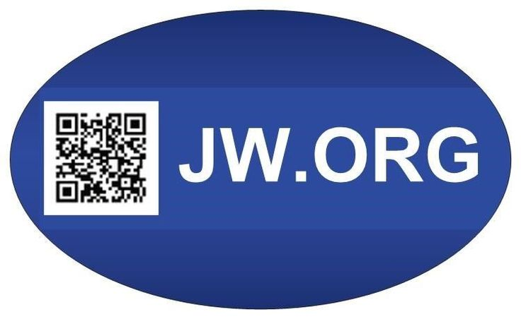 JW.org QR Code 'Why Study the Bible?' BUMPER STICKER Jehovahs Witnesses Gift