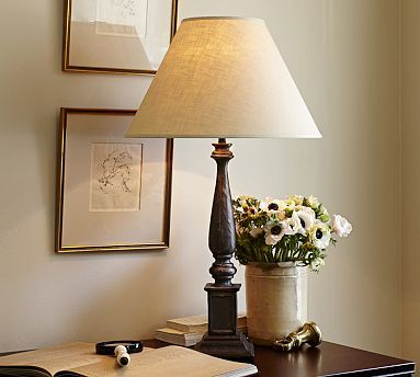 Ellis table lamp base love the icture frame matte comco on the wall