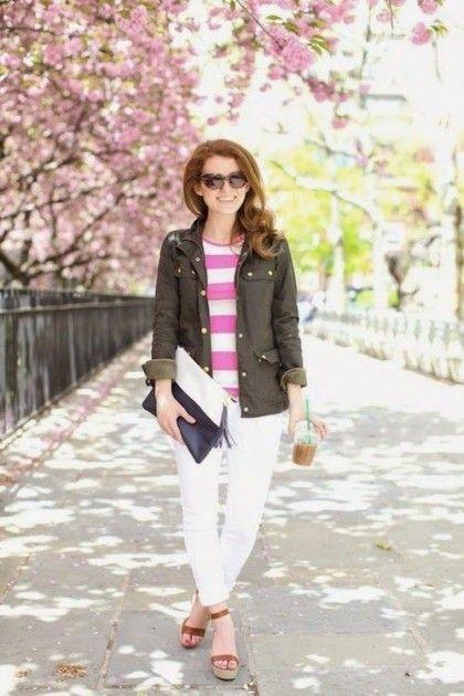 White Denim Outfit Inspiration | theglitterguide.com