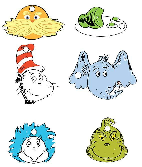 Dr. Seuss Printables | Dr Seuss Character Gift Tag Set - PDF File on Wanelo