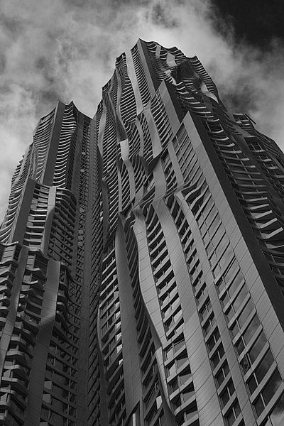 Design by Frank Gehry, 8 Spruce St.,lower Manhatten: Building, Frank Gehry, New York, Spruce Street, Architecture, Place, Design