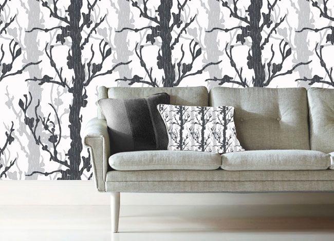 'Exalt Purity' Collection of Designs for Wallpaper.  Copyright of Nina Keshmiri