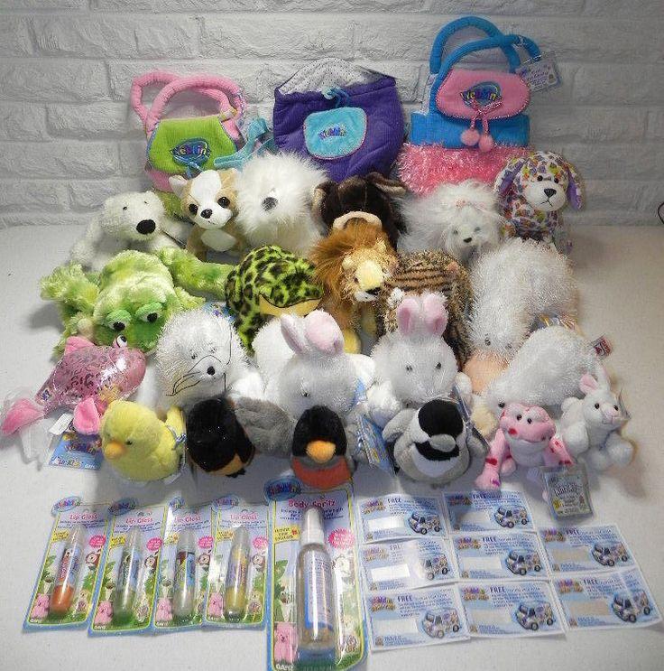 WEBKINZ Stuffed Animals Plush Pet Carriers Lip Gloss Spray Van Codes 38 Pc NWT #Ganz