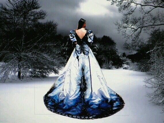 17 best images about wedding dresses on pinterest black for Blue gothic wedding dresses