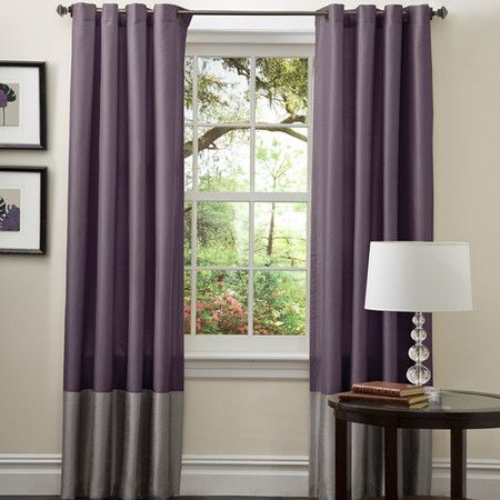 I love the idea of colorblock curtains to spice up a room.