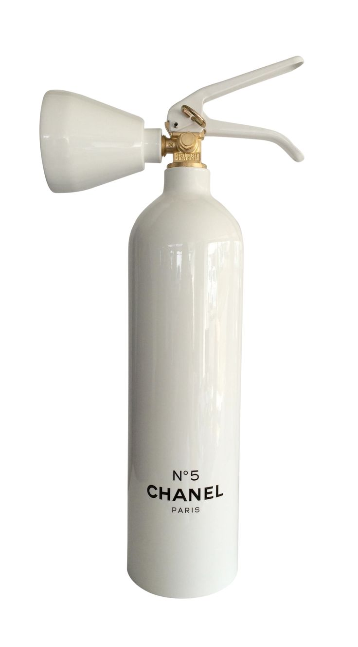 Chanel No5 Fire Extinguisher Sculpture Contemporary, Metal, Art by Art Angels