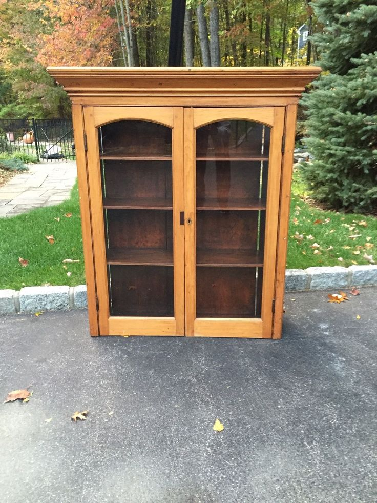 Tall Jelly Cabinet Glass Doors