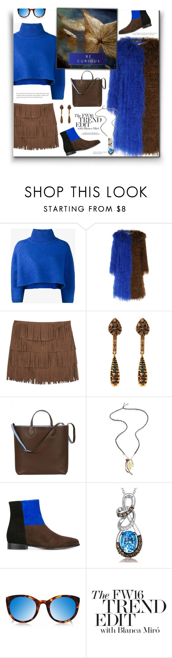 """The Fashion Report | Blue for Fall"" by fassionista ❤ liked on Polyvore featuring Vika Gazinskaya, Saks Potts, MANGO, Fabrizio Riva, Gucci, Chan Luu, ANNA BAIGUERA, White Label, Finlay & Co. and Miró"