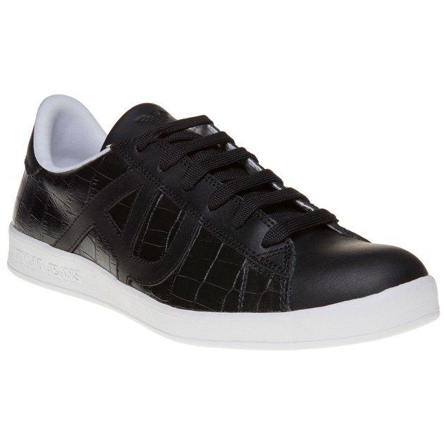 nieuw! Armani Jeans Croc Cup Sole Trainers (zwart)