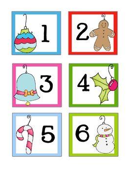 December / Christmas * FREE* Calendar Cards - Doodle Bugs Teaching - TeachersPayTeachers.com