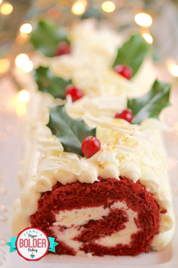 Red Velvet Roulade Cake Gluten Free Gemma S Bigger Bolder Baking Recipe Christmas Cooking Sweets Recipes Roulade Cake