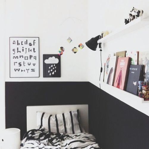 The Plumed Nest: Kids Room B+W