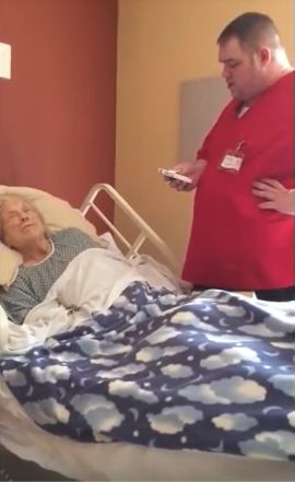 This nurse did everything he could to grant her her dying wish.