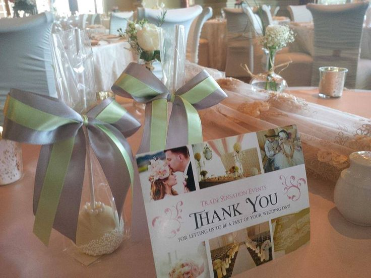 Thank you Card and Cake Pops by Trade Sensation Team for the most relaxed Bride and Groom ever!