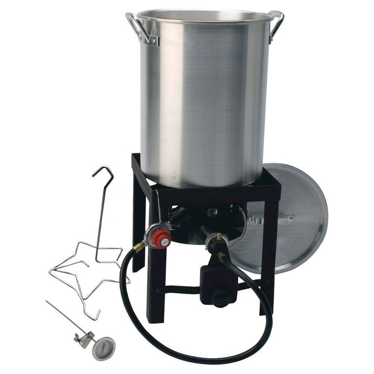 kamp kitchen outdoor aluminum silver cooker and turkey fryer 29 30 qt - Outdoor Deep Fryer