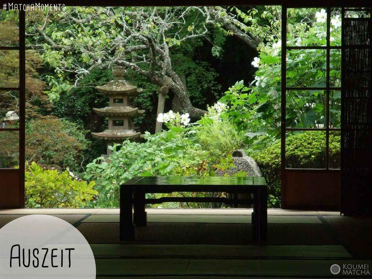 MatchaMoments von Koumei Matcha, gefunden im Matcha Blog: http://www.koumei-matcha.de/blog/ #MatchaMoments #Auszeit #Garten #Japan #Matcha