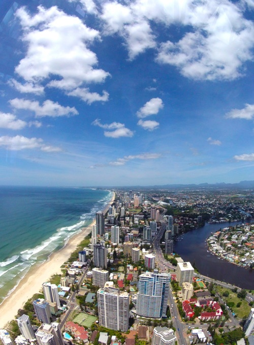 Gold Coast from Q1 Observation Deck (Surfers Paradise, Queensland, Australia)