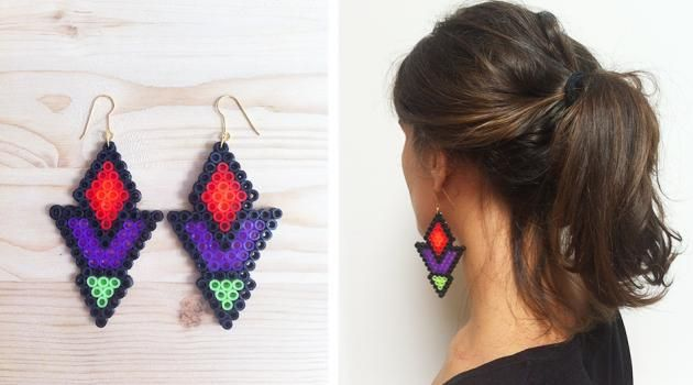 DIY Hama perler earrings by hilaydays