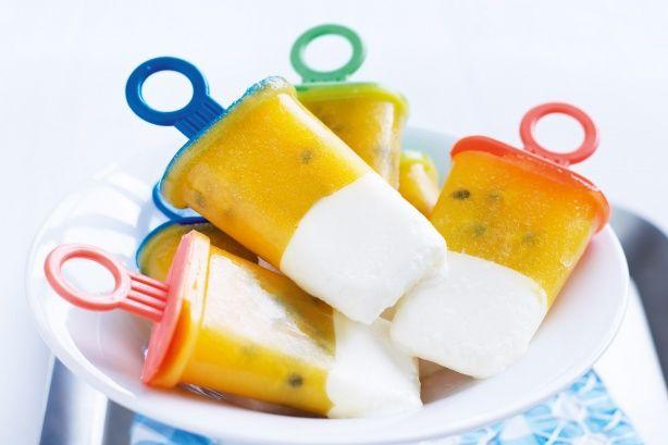 Honey Yoghurt Tropical Ice-Blocks - Summer's in full swing, so slide over to the freezer for a frosty treat of honey yoghurt tropical ice-blocks.