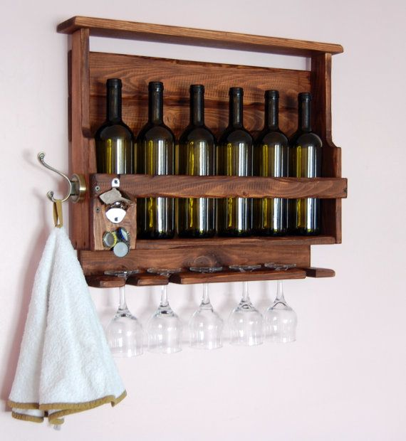 Botellero de palets decoraci n de paredes pinterest - Botellero de pared ...