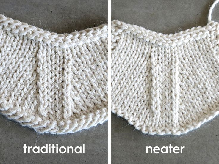 Do your k2tog's look neater than your ssk's? Depending on how you knit, this may neaten up your decrease stitches — give it a try! The Traditional ssk slip as if to knit, slip as if to knit. Place your left needle into the fronts of the slipped sts and knit them together. In this photo you can see the right-leaning k2tog on the right lays flatter than the left-leaning ssk running up the left side of the decreases. Read More →