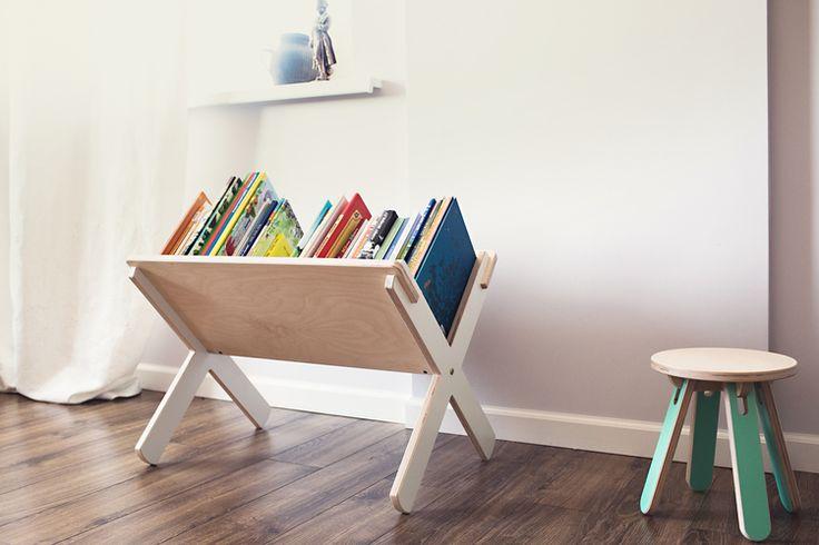 Easy storage of children's books. Детский стелаж для книг Modl Kids.